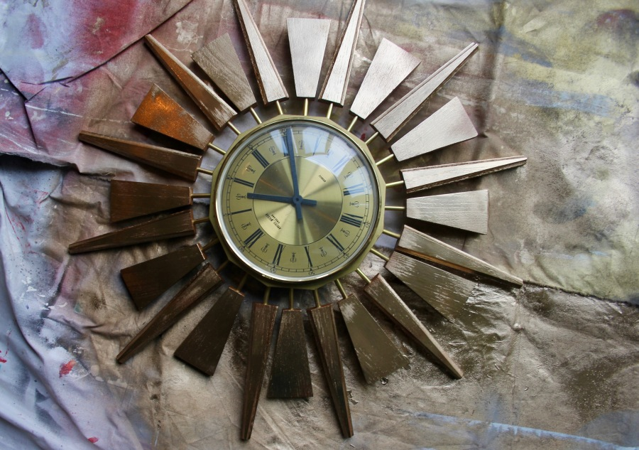 sunburst-clock-being-painted