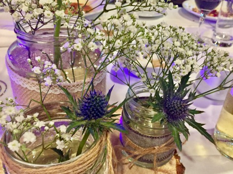 Scottish Thistle Table Decorations