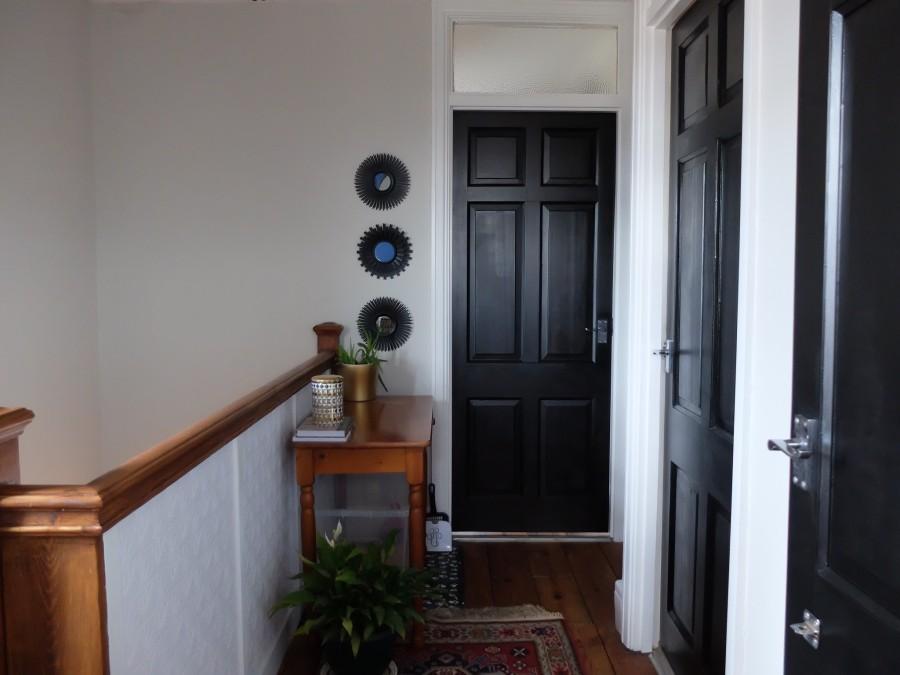 painted black landing doors 1