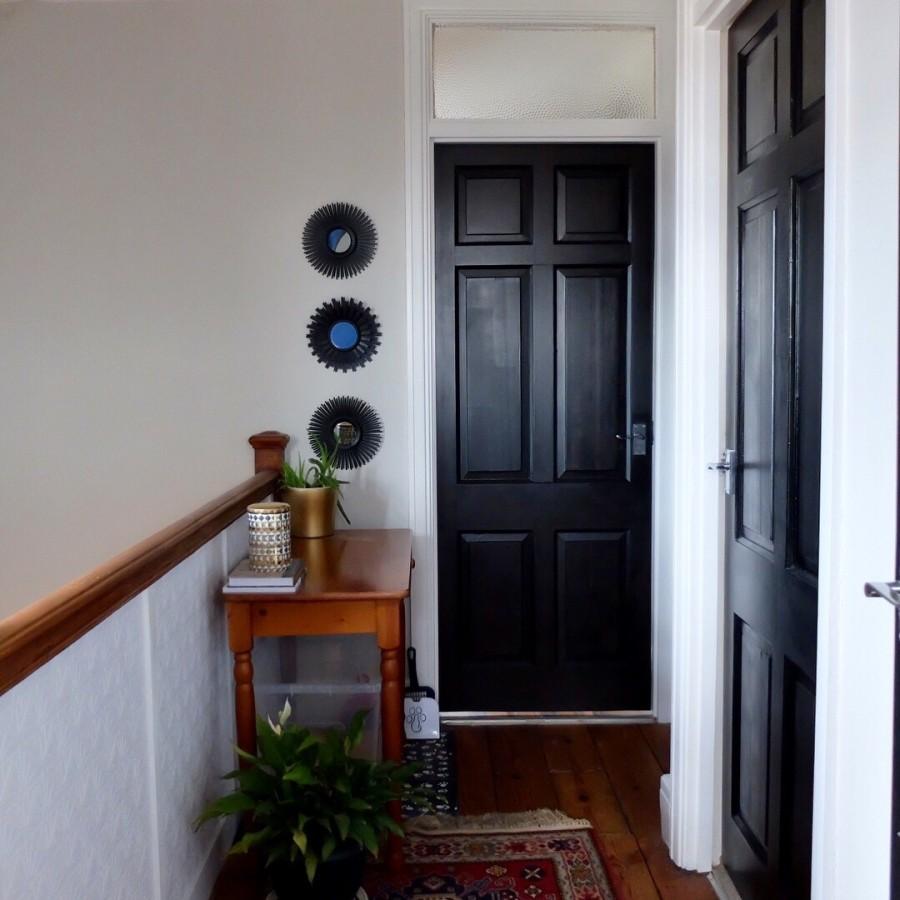 painted black landing doors 2