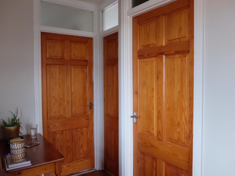 pine landing doors before painting 2